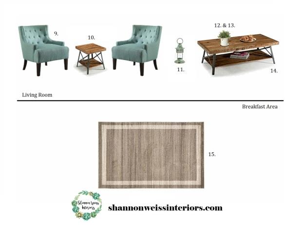 Hiers Living Room & Breakfast Area Inspiration Board